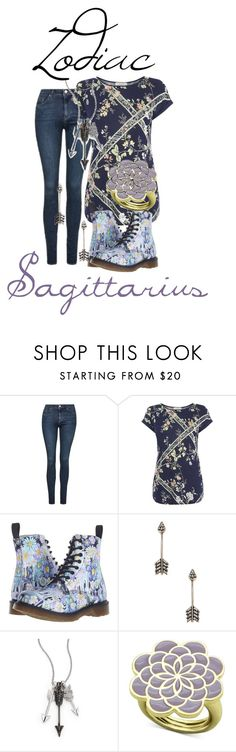 """Zodiac:Sagittarius"" by blueangel16-001 ❤ liked on Polyvore featuring Topshop, Dr. Martens, Pamela Love and Jade Jagger"