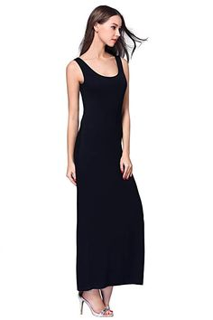 c0a30648bb7 HIKA Women s Casual Sleeveless Tank Top Long Maxi Dress at Amazon Women s  Clothing store