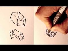 ▶ How to draw Rocks and Boulders - YouTube