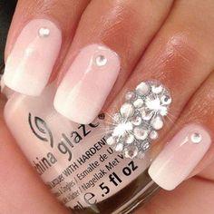 GlamGlamGlam/Jeweled/Soft Pink/White Ombre