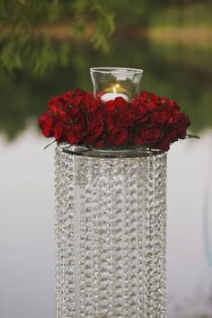 Crystal candle stand for your #sparkling #wedding