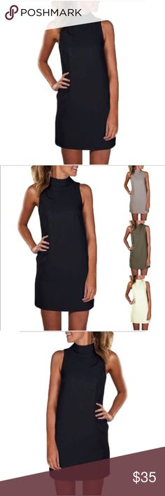 Simple & Chic  The Perfect Dress  Simple & Chic  The Perfect Dress  Sleeveless Turtleneck  This dress will take you from office business to monkey business!  Dresses