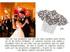 #accesorios para #novias2016 #nuvias #bride #lookdenovia #look #complementoideal #UndiaPerfecto #Peinetas #vintage #vintagestyle #Lookdeboda #lookdeamigas #tendencias #eraseunavezuntocado #lookbodorrio #hairpins #novias #bodorrio #outfitboda #weddingstyle #weddinghair #perlas #tocados #noviasconestilo #MarieClaire #SofiaVergara