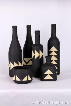 Декоративные винные бутылки своими руками (11) (400x600, 116Kb)