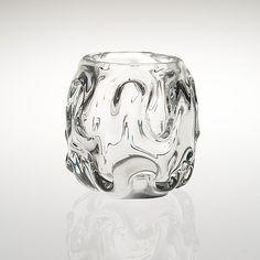 HELENA TYNELL - Glass vase for Riihimäen Lasi Oy, Finland.   [h. 16 cm] Glass Design, Design Art, Japanese Cocktails, Lassi, Finland, Modern Contemporary, Glass Art, Retro Vintage, Texture