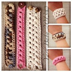 Ravelry: The Brecken Bracelet: FREE crochet pattern by Shannon @ My Yarn Baby