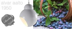 """The beautiful A 338 Bilberry pendant lamp, designed by Alvar Aalto in 1950, is a delicious icon of Finnish design and a Stardust Staff Pick. A beautiful lamp inspired by the Finnish """"Bilberry"""", a small Finnish variation of the classic blueberry.  http://www.stardust.com/artek-aalto-a338.html"""