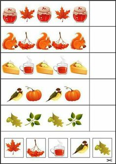 Preschool Centers, Preschool Writing, Preschool Learning Activities, Kids Learning, Fall Activities For Toddlers, Math For Kids, Autumn Leaves Craft, Autumn Crafts, File Folder Activities