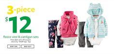 La moda se convine perfecto con las ofertas y en Carter's hay muchas para los pequeños de casa.  www.carters.com