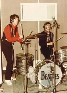 Recording! Very cool. Ringo singing. Paul in back-up percussion!