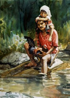 """""""Father and son""""  Fred Galan"""