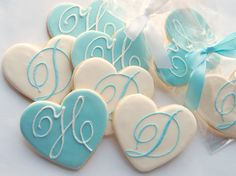 engagement favors | ms, Wedding Monogram Cookies, Wedding Cookies by Rolling Pin ...