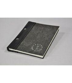 Stef Fauser Notizbuch Bookinger schwarz/anthrazit Tagebuch Buch DIN-A5-Format  - 2-flowerpower