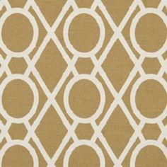 Lattice Bamboo Amber Contemporary Drapery Fabric by Robert Allen