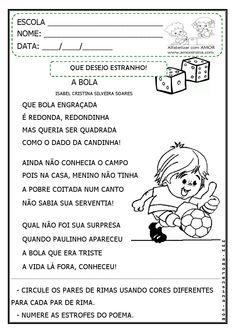 Alfabetizar com AMOR: A BOLA - POEMA E ATIVIDADES INTERDISCIPLINARES - 1º ANO…
