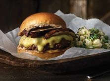 There's no wrong way to grill up this burger beauty. But, if you're looking for an easy recipe to beef up tonight's dinner, the Mushroom Swiss Burgers with Chopped Cauliflower Salad is a Publix and Aprons Simple Meals masterpiece. Burger Recipes, Beef Recipes, Cooking Recipes, Healthy Recipes, Gourmet Burgers, Grill Recipes, Healthy Food, Dinner Recipes, Chicken