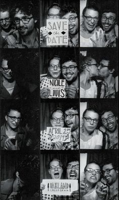 Adorable photo booth proposal + save the date!