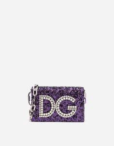 SEQUINED DG GIRLS SHOULDER BAG Mini Bolso, Purple Bags, Stefano Gabbana,  Domenico Dolce edb30506a5
