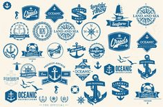 retro nautical badges and labels royalty-free stock vector art Nautical Design, Vintage Nautical, Nautical Theme, Free Vector Art, Free Vector Images, Eps Vector, Pencil Illustration, Graphic Illustration, Logo Design