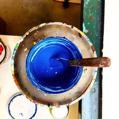 En nu... Blauw! #bluemonday #screenprint