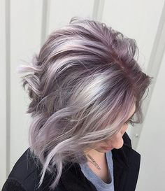 Repost from @hannahsmithstylist Iridescent lilac tones  Created with @kenraprofessional and @olaplex  7vm : 8vm Violet booster, 9vm Violet booster, Color Creative White and Violet. Added Olaplex to all formulas. #KenraColor #MetallicObsession #KenraColorCreative