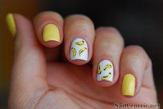 Nails gone bananas with Orly Lemonade nail art - NailCentric