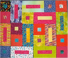 Have Fun Sewing These Easy Bricks and Cobblestones Quilt Blocks: How to Make Bricks and Cobblestones Quilt Blocks