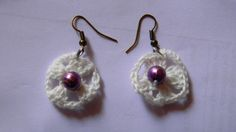 Earring made from thread crochet