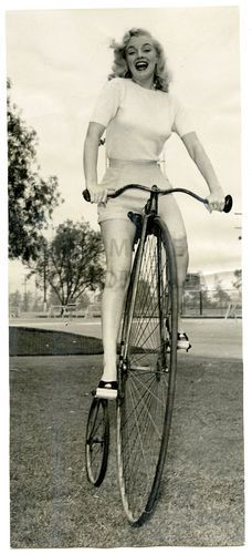 Marilyn Monroe Original Vintage 1949 Bicycle Ride