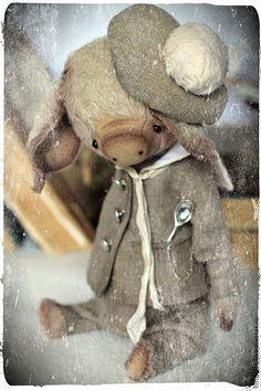Купить Бублик - серый, светло-серый, оливковый, тедди, мишки тедди, друзья тедди, поросенок