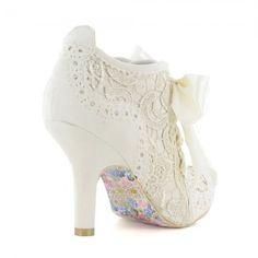 Irregular Choice Abigails Third Party Womens Wedding Boots in Cream