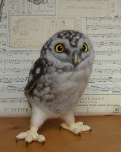 Helen Priem creates these AMAZING felted owls!