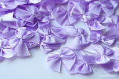 Rubans en satin, 12 petits noeuds en satin, noeud ruban violet est une création…