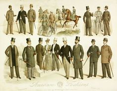 1880s fashion men - Google Search