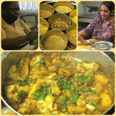 Aloo Sag cooked by Viv, enjoyed by everyone.