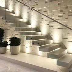 Interior design your home - 47 The Best Stairs Ideas To Interior Design Your Home – Interior design your home Interior Design Your Home, Home Stairs Design, Interior Stairs, Home Room Design, Dream Home Design, Modern House Design, Stair Design, Stair Walls, Floating Staircase