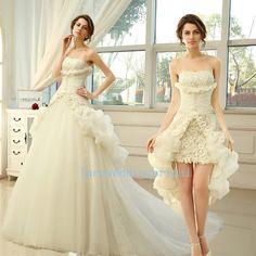 Calidad a medida estilos combinados corta una línea desmontable novia vestidos por encargo vestido de novia Venta PROMTION