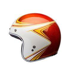 Amazon.com: Bell LE Custom 500 Copperhead Orange/White Open Face Helmet, XS: Sports & Outdoors