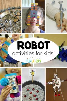 Super fun robot activities to try with the kids today. They're great for a preschool robot theme, summer camp, or just because! Camping Activites For Kids, Preschool Summer Camp, Summer Camp Themes, Summer Camp Activities, Preschool Science, Kids Learning Activities, Kindergarten Activities, Stem Activities, Summer Camps