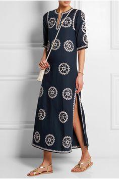 Tory Burch | Shirley broderie anglaise linen-blend maxi dress | NET-A-PORTER.COM