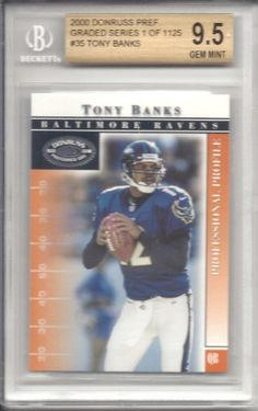 Tony Banks 2000 Donruss Preferred #35 Beckett Gem Mint 9.5 by Donruss. $15.00. This is a Tony Banks graded card. It would make a great addition to any card collection.