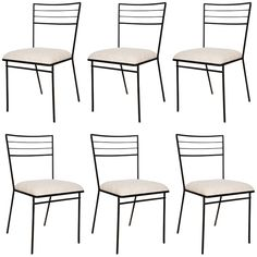 set of 6 Wrought Iron Arbuck Chairs | From a unique collection of antique and modern side chairs at http://www.1stdibs.com/furniture/seating/side-chairs/