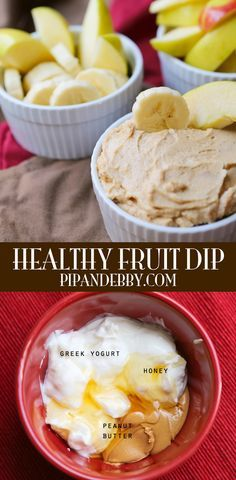 Healthy Fruit Dip | Great snack for kids to dip fruit or veggies in! Healthy AND yummy!
