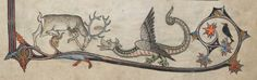 Alphonso Psalter (formerly known as 'The Tenison Psalter') 1284-1316 British Library Add MS 24686 fol 12r