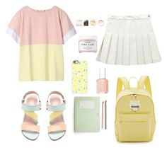 """""""aesthetic style"""" by vit1017 on Polyvore featuring Marni Edition, Stuart Weitzman, Kenzo, Casetify, Essie, Herbivore, Korres and pastel"""