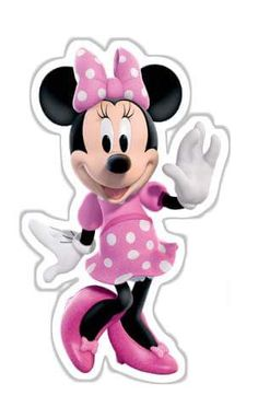 Minnie Mouse Stickers, Mickey E Minnie Mouse, Pink Minnie, Minnie Mouse Birthday Decorations, Mickey Mouse Clubhouse Birthday, Minnie Birthday, Mini Mouse, Mouse Parties, Baby Disney