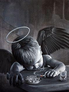 "Monty Guy & Leon Loucheur ""Live Fast"" #angel #cherub #art"