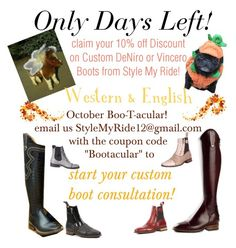 """""""Only a Few days left to save on Custom Boots#"""" by stylemyride on Polyvore featuring TBA"""