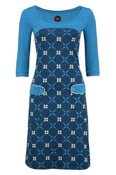 TANTE BETSY Jurk  Dress Retro Go Royal Blue  www.lesjalerie.nl  Le Sjalerie Mode & Accessoires  Kerkbuurt 77 3361BD Sliedrecht