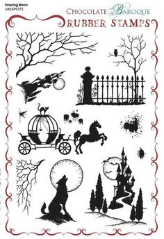 Chocolate_Baroque_Howling_Moon_Rubber_Stamp_Sheet_A5_UA5SP0372_large.jpg (329×480)